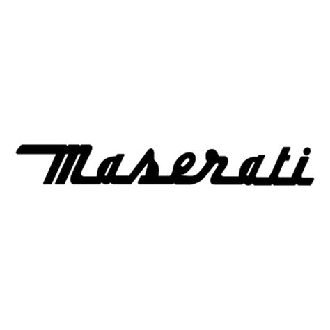 maserati logo drawing sticker maserati logo