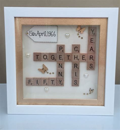 scrabble anniversary 1000 ideas about golden anniversary gifts on