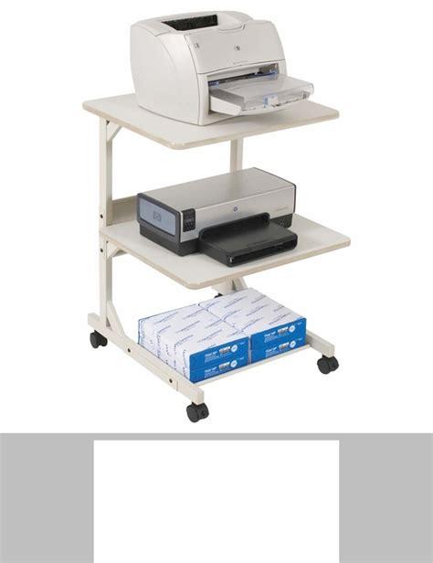 Laser Toner Shelf by Balt 174 Max Stax Dual Purpose Printer Stand Three Shelf