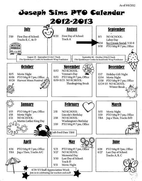 pto calendar template calendar newsletter school pto ideas calendar