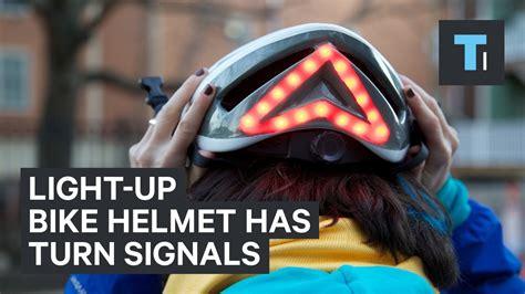 light up bike helmet this light up bike helmet has built in turn signals