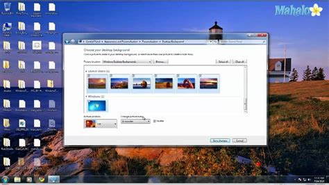desktop themes slideshow how to make your background a slideshow in windows 7 youtube