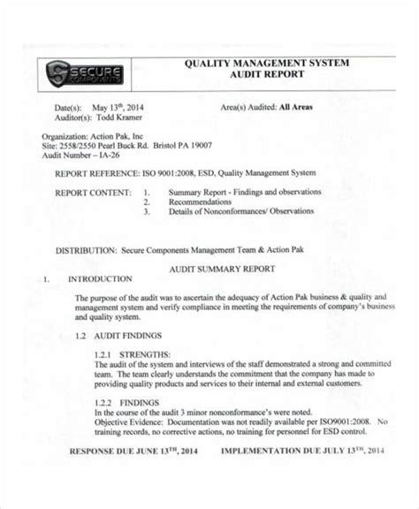 quality audit report templates google docs word pages  apple pages  premium