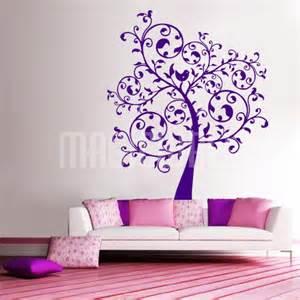 wall decals beautiful swirly tree wall stickers
