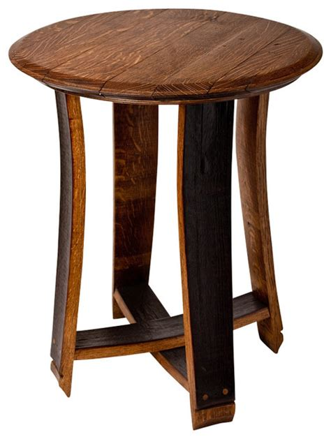 barrel accent table barrel top accent table contemporary side tables and end tables by alpine wine design