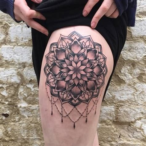 simple thigh tattoos 31 marvelous mandala photos golfian