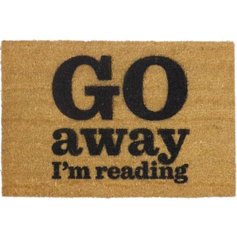 Doormat Company by Go Away I M Reading Doormat The Literary Gift Company