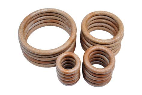 Plastic Macrame Rings - wire macrame rings wood look plastic