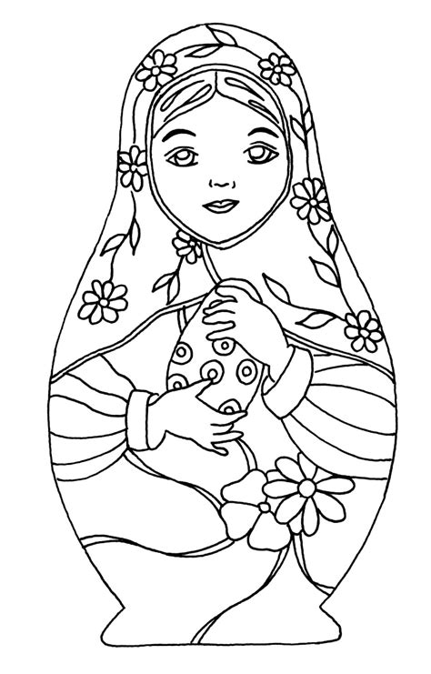 russian dolls 12 russian dolls coloring pages for