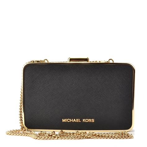 M Hael Kors Free Box michael michael kors elsie black leather box clutch