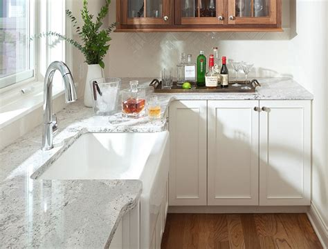 White Shaker Kitchen Bath Cabinets Chandler Mesa Az Quartz Countertops With White Cabinets