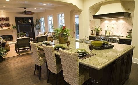open plan kitchen family room ideas 23 open floor plan kitchen family room plan w59926nd