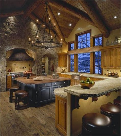 dramatic country rustic kitchen by tanya shively