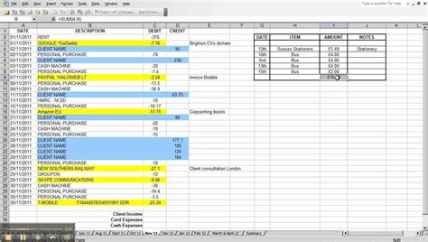 microsoft excel templates income and expenses spreadsheet small business