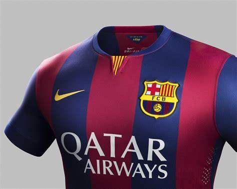 Jersey Original Fc Barcelona Home Season 20152017 nike shows 2014 15 barcelona home jersey the center
