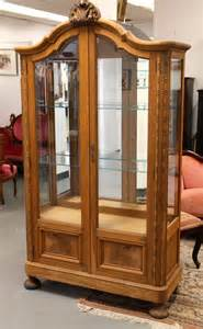 Wood Curio Cabinet With Glass Doors Found In Ithaca 187 Banyan Wood Curio Cabinet With Beveled
