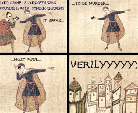 Medieval Tapestry Meme - going medieval the bayeux tapestry meme onelargeprawn