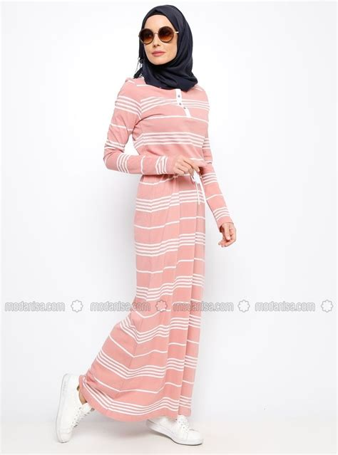 striped dress powder everyday basic egyptian fashion