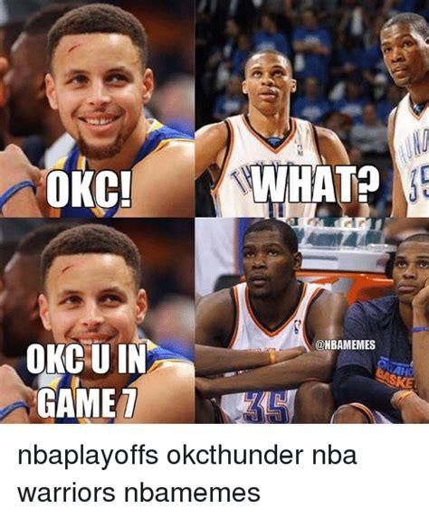 Okc Thunder Memes - okc okcsu in game aanhat nbaplayoffs okcthunder nba