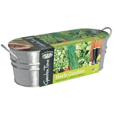 Herb Garden Starter Kit by Garden Time Herb Garden Windowsill Kit Mr Fothergill S