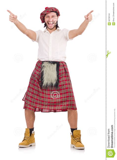 when you a scotsman seven brides seven scotsmen books happy scotsman isolated on white stock photo image 59739744
