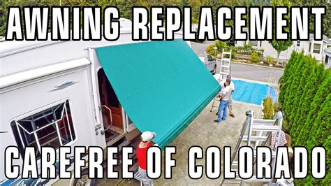 carefree of colorado awning repair how to replace carefree of colorado awning fabric manual