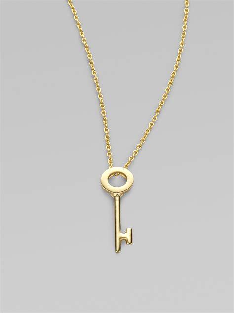 roberto coin tiny treasures 18k yellow gold key pendant