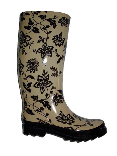 flower pattern boots flower pattern ladies rain boots china rain boots