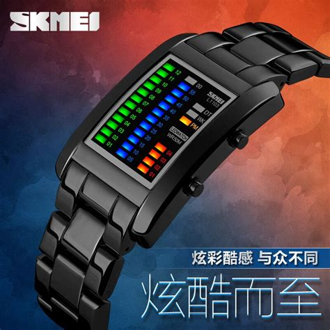 Jam Tangan Skmei Casio Original Anti Air Murah Elegan skmei jam tangan led unik 1103a black jakartanotebook