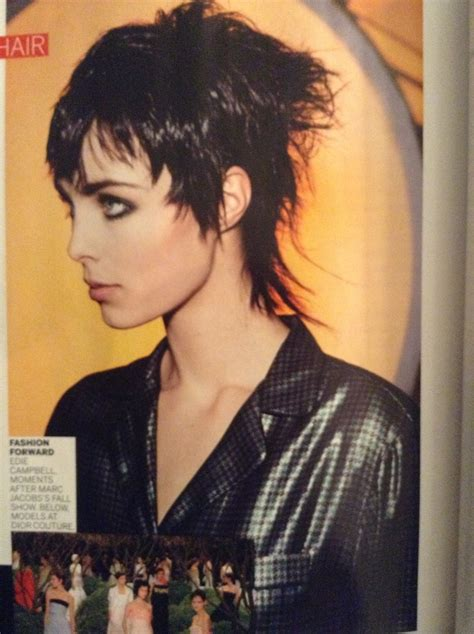 edgy mullet hairstyles edie cbell punked up tough pixie mullet hairstyles