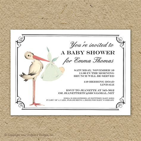 shower invitation template vintage baby shower invitations wblqual