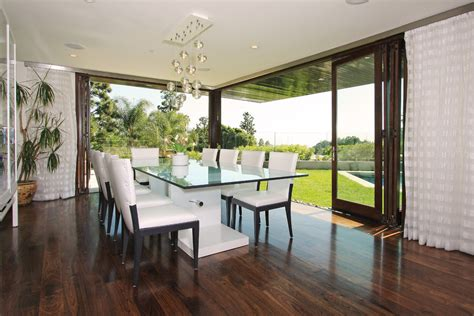 Dining Room Folding Doors Glass Dining Room Tables With Contemporary Neutral Colors
