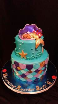Mermaid Baby Shower Cake mermaid baby shower cake cakecentral
