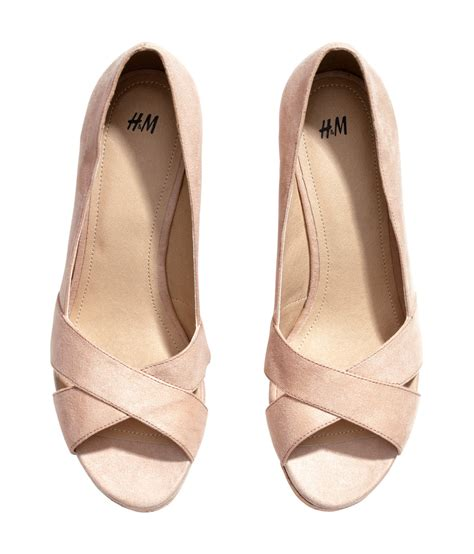 h m shoes lyst h m wedgeheel shoes in