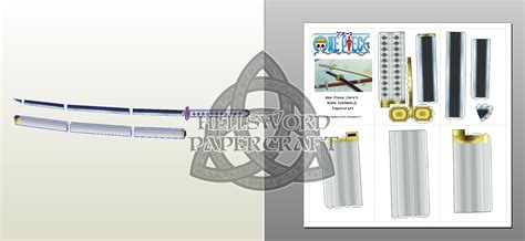 Papercraft Swords - hellsword papercraft one zoro s katanas size