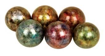 ceramic decorative balls assortment of 6 colorful ceramic decorative balls