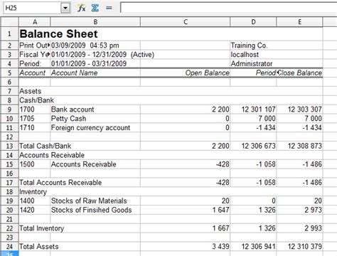 format excel accounting frontaccounting screenshots