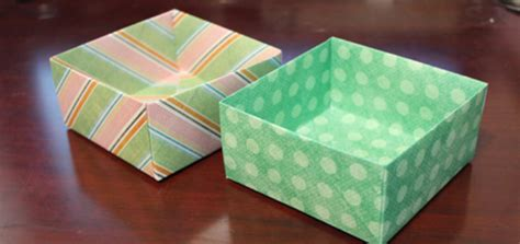 Make Boxes Out Of Paper - how to make an origami box out of scrapbook paper craftcore