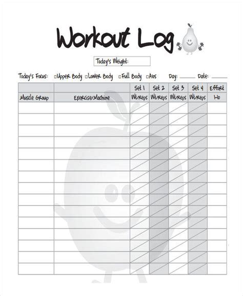 blank workout log template 34 sle log templates sle templates