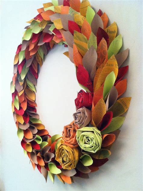 Paper Wreaths To Make - dishfunctional designs diy autumn wreaths you can make