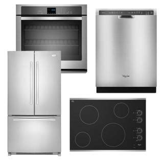 kitchen appliance suites stainless steel whirlpool whirlpool 4 piece kitchen suite stainless