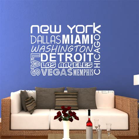 Sentences About A Bedroom In New York Quality Vinyl Black Wall Sticker Sentences
