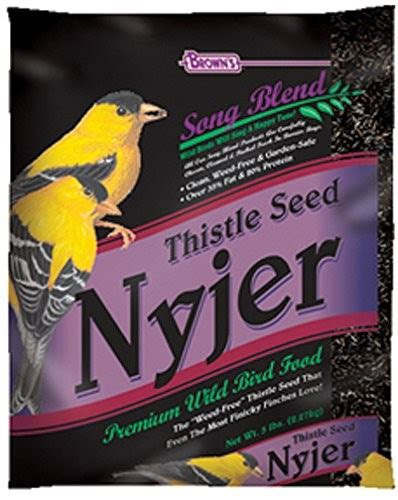 brown s song blend thistle seed nyjer bird food 10 lb