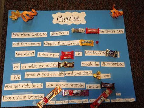 Candy Gram for Boss's Day!!!!   Mother's Day   Pinterest