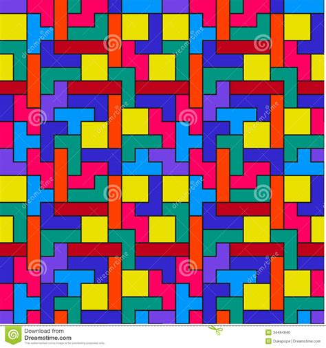 geometric pattern games colorful tetris pattern stock photo image 34464840