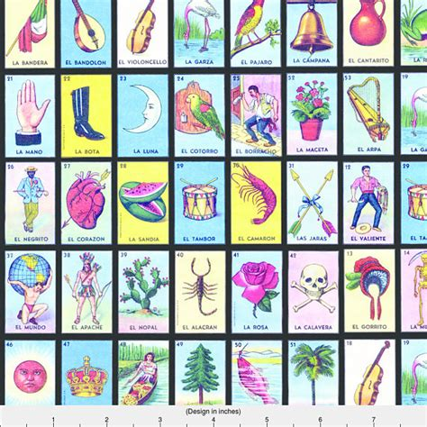 how to make loteria cards loteria cards fabric loteria small on black by