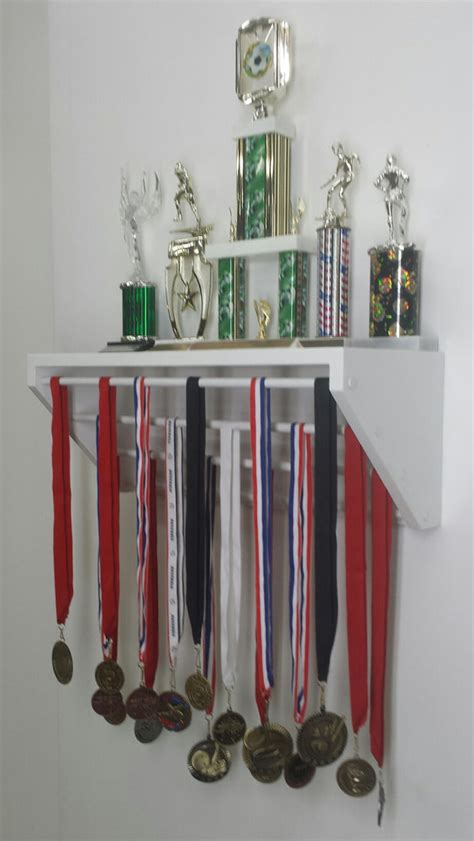 Trophy Display Shelf by White Trendy Display For Medals And Trophies Customize The