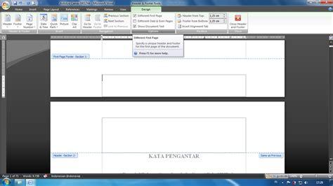 format htm adalah membut format nomor halaman berbeda pada