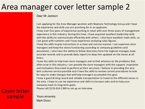 area manager cover letter area manager cover letter