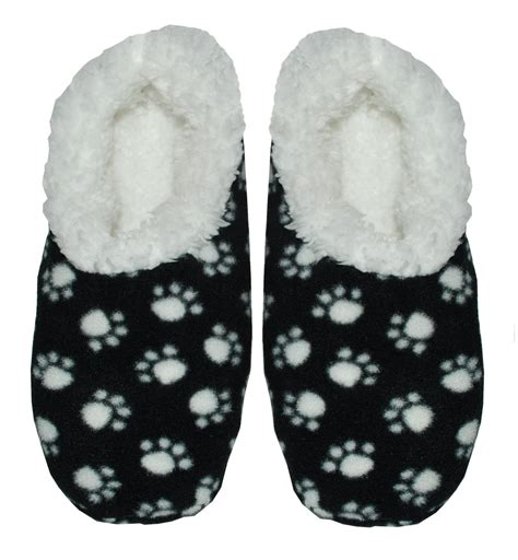 paw slippers womens snoozie slippers snoozies paw print fleece lined s
